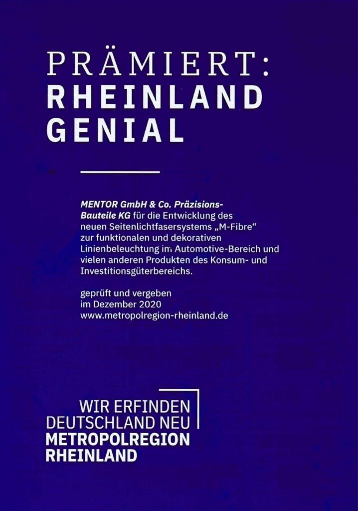 Rheinland Genial MENTOR